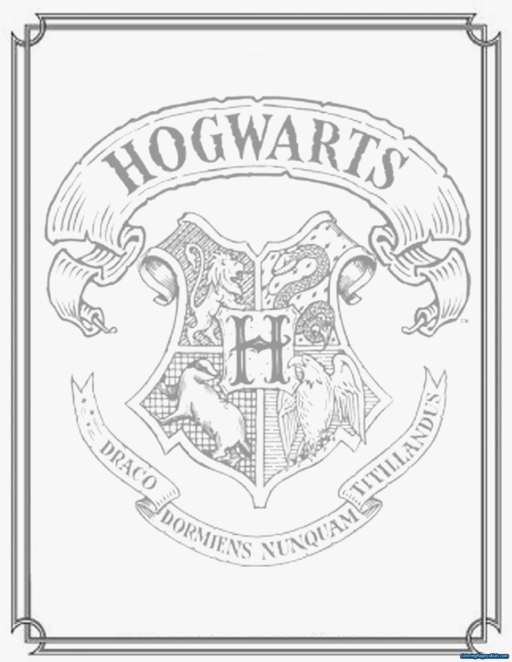harry potter coloring book pages - Coloring Pages For Kids   Harry ...