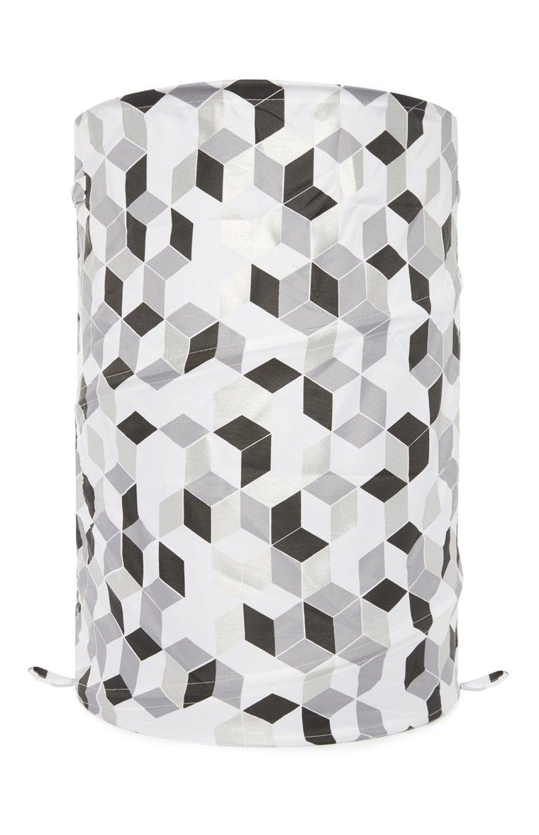 primark auffaltbarer w schekorb mit monochromem design shopping pinterest. Black Bedroom Furniture Sets. Home Design Ideas