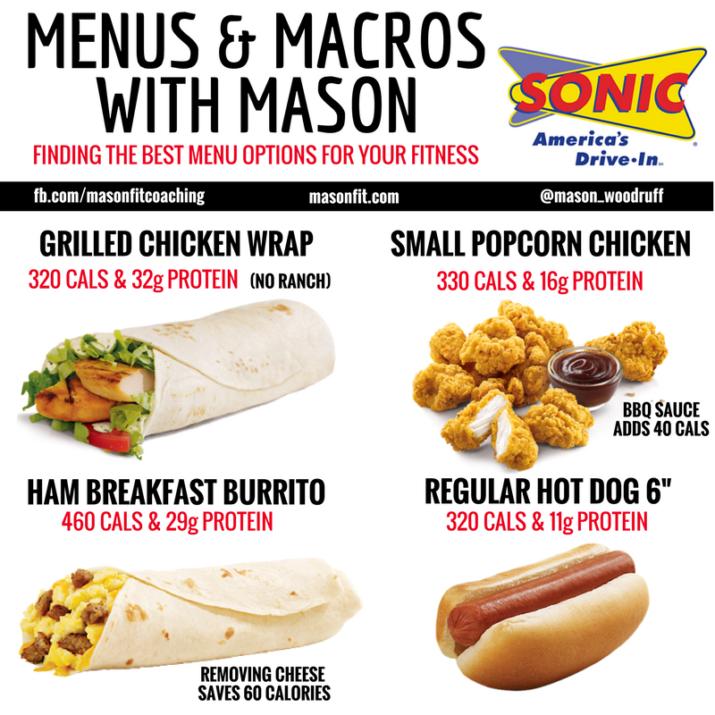 Healthy Options At Sonic Healthy Fast Food Options Fast Healthy Meals Low Calorie Fast Food