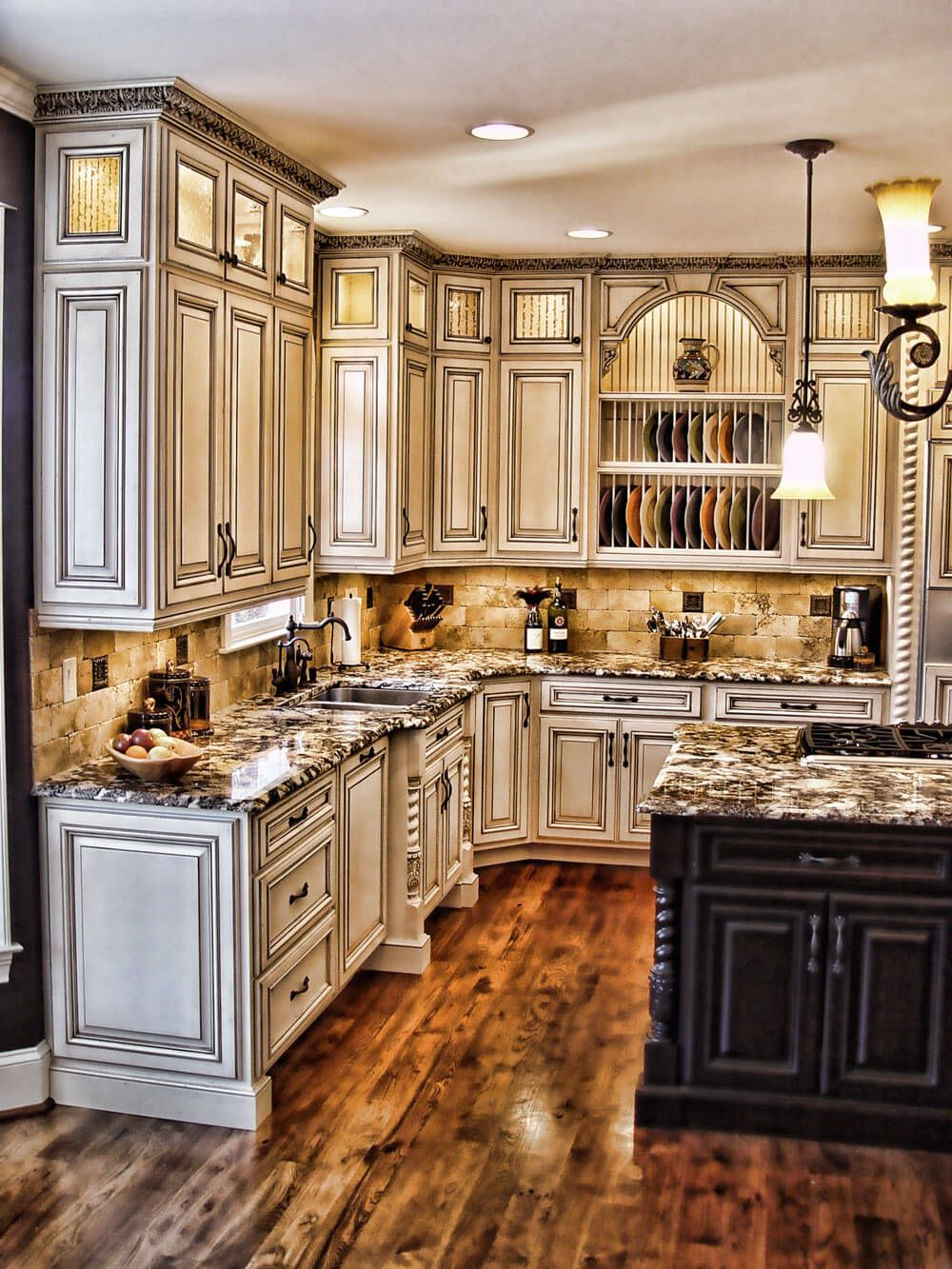 27 Cabinets For The Rustic Kitchen Of Your Dreams Antique White Kitchen Rustic Kitchen Cabinets Sweet Home