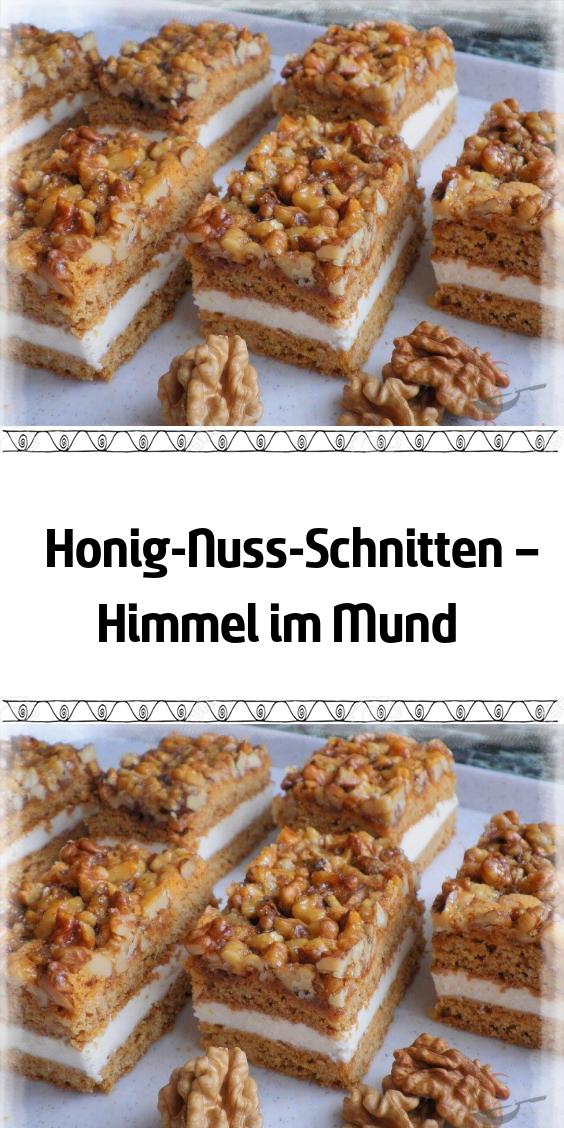 Honig-Nuss-Schnitte - Himmel in Ihrem Mund