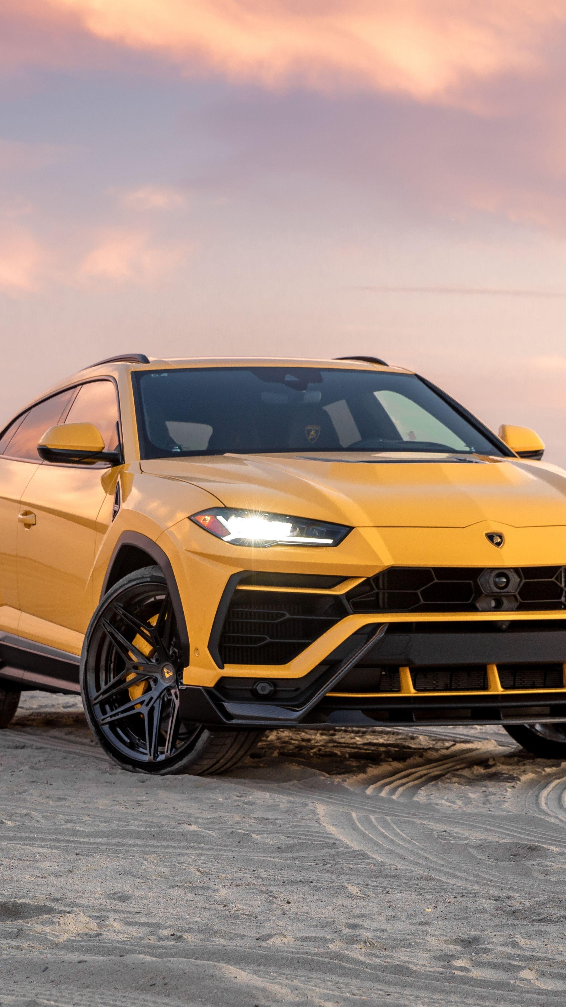 2160x3840 Yellow Lamborghini Urus 2020 Compact Suv Wallpaper In