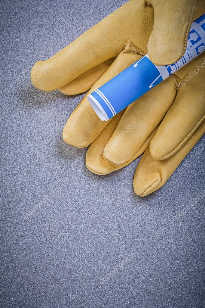 Leather safety gloves Stock Image , affiliate, safety,