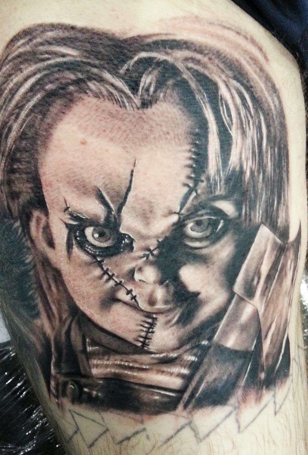 chucky tattoo google search tattoo sleeve ideas pinterest search and tattoos and body art. Black Bedroom Furniture Sets. Home Design Ideas