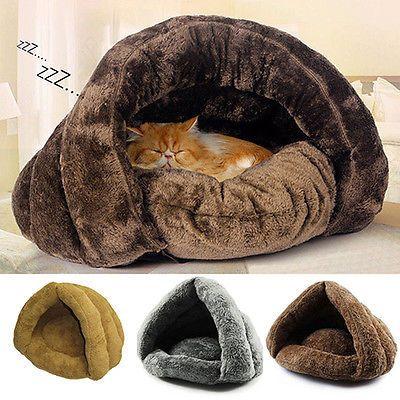 Cat Dog House Puppy Cave Pet Sleeping Bed Mat Pad Igloo Nest New Fashion Camas De Gato Jaulas Para Perros Camas Para Perros