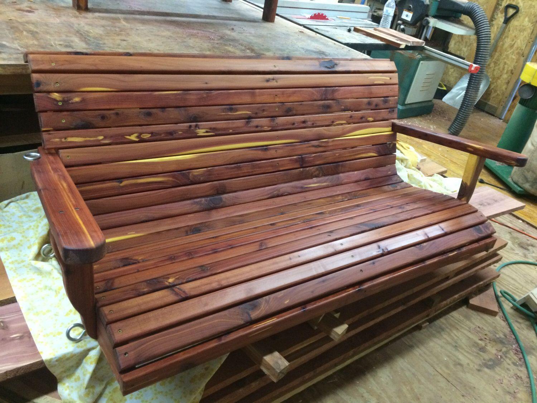 Cedar Swing, Cedar Swing, Wooden Porch Swing, Wooden Swing, Outdoor  Furniture, Patio Furniture By RustysWoodworking On Etsy ...