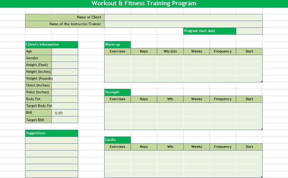 Workout Calendar 2018 Template Excel 2018 Calendar Templates