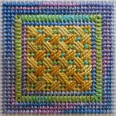 Square One Needlepoint Doodle. Nice colors...