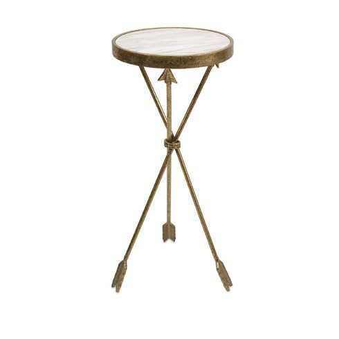 Dillsboro End Table Marble Table Top Marble End Tables Iron Accent Table