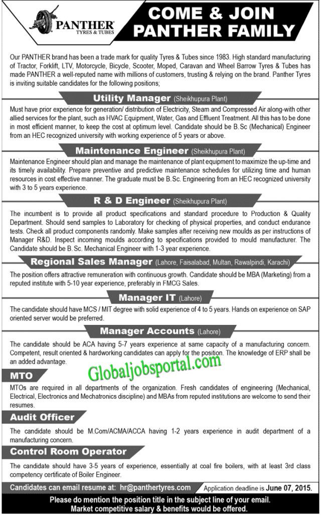 Utility Manager Maintenance Engineer Jobs In Panther Http