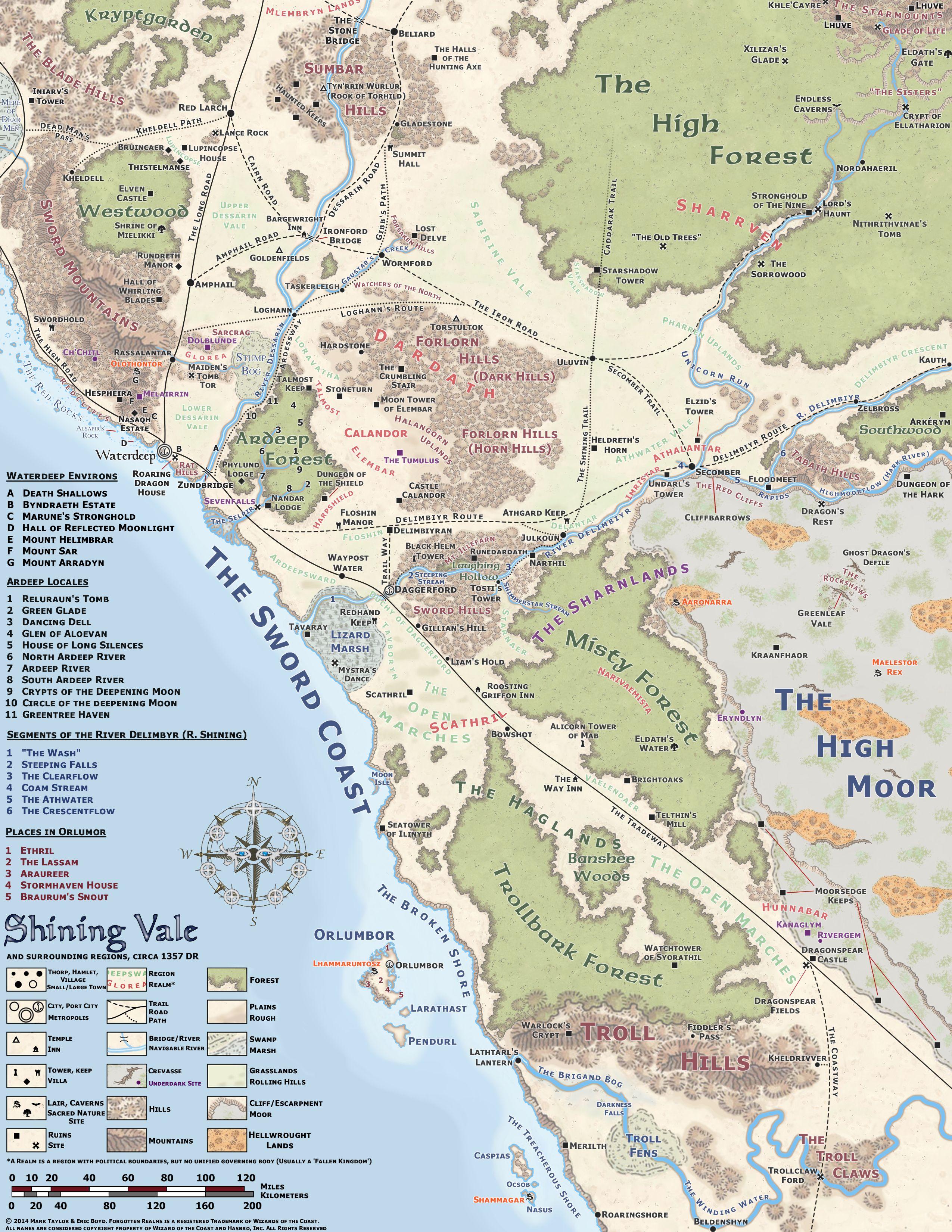 Daggerford Region By Markustay Fantasy World Map History