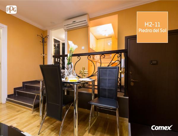 Los colores c lidos en las paredes provocan un efecto de - Paleta de colores para paredes interiores ...
