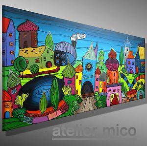 Malerei In Acryl Handgemalte Originale Gemalde Auf Leinwand
