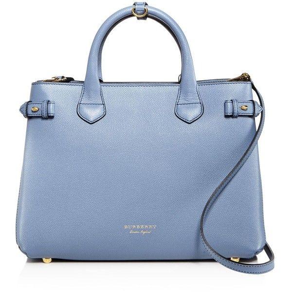 blue burberry purse