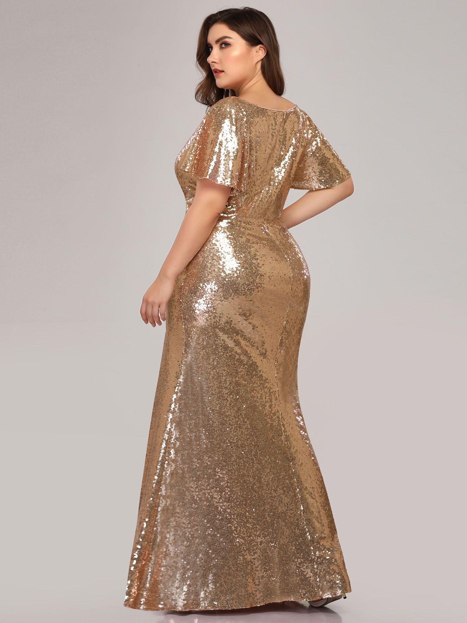 Ever Pretty Ever Pretty Womens Elegant V Neck Formal Evening Dresses For Women 07988 Gold Us16 Walmart Com Elegant Maxi Dress Sequin Formal Dress Plus Size Gowns Formal [ 2000 x 1500 Pixel ]