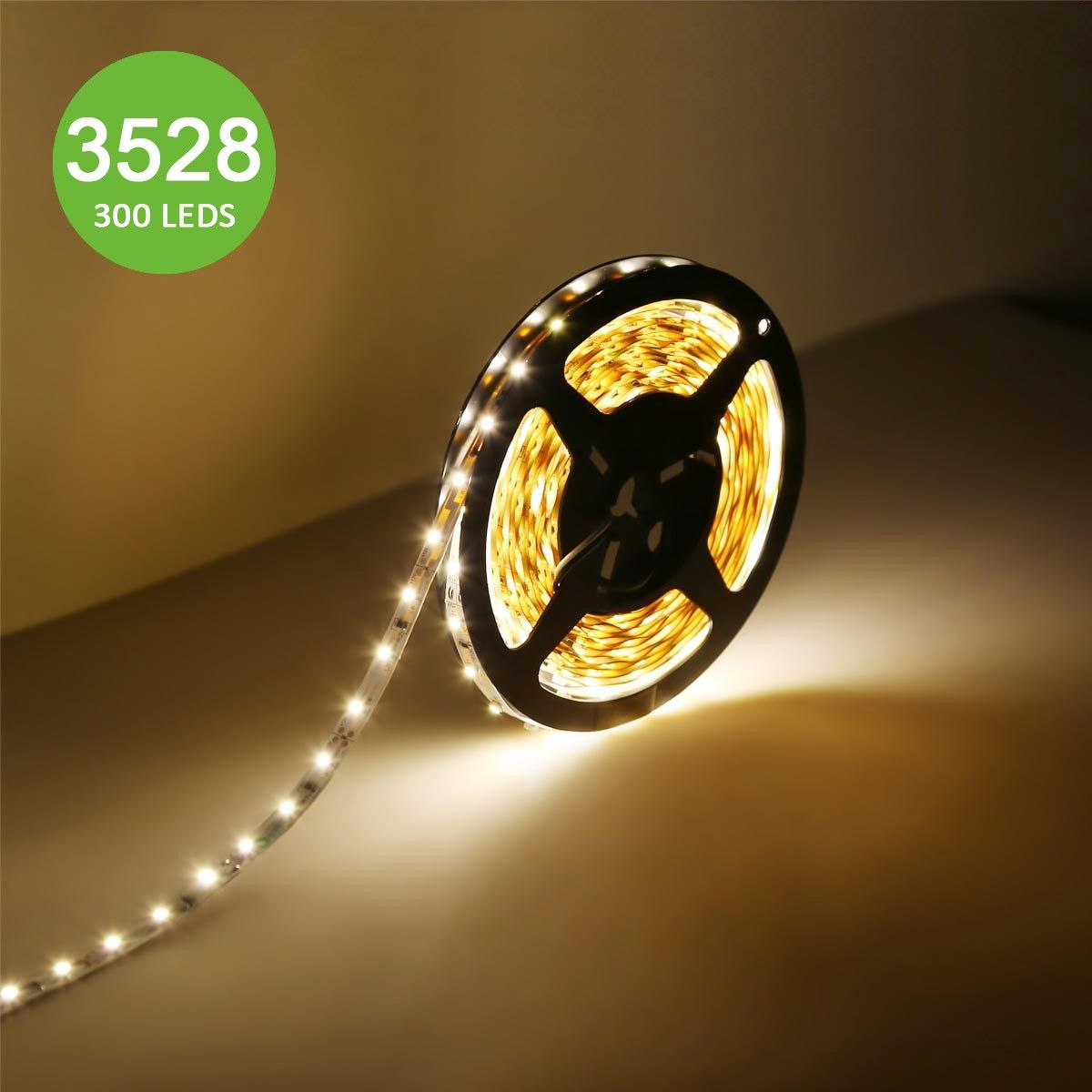 164ft flexible led strip rope lights12v warm white 300 units 12v flexible led strip lights led tape warm white 300 units 3528 leds mozeypictures Choice Image