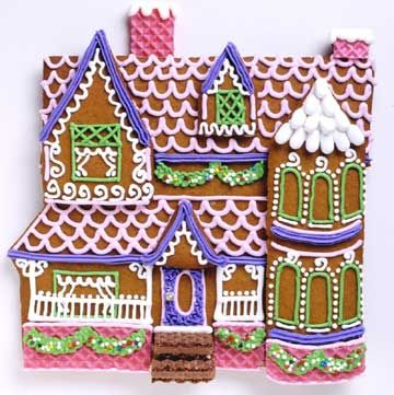 georgian gingerbread house template  7 Delicious Gingerbread Houses | Creative Foods ...