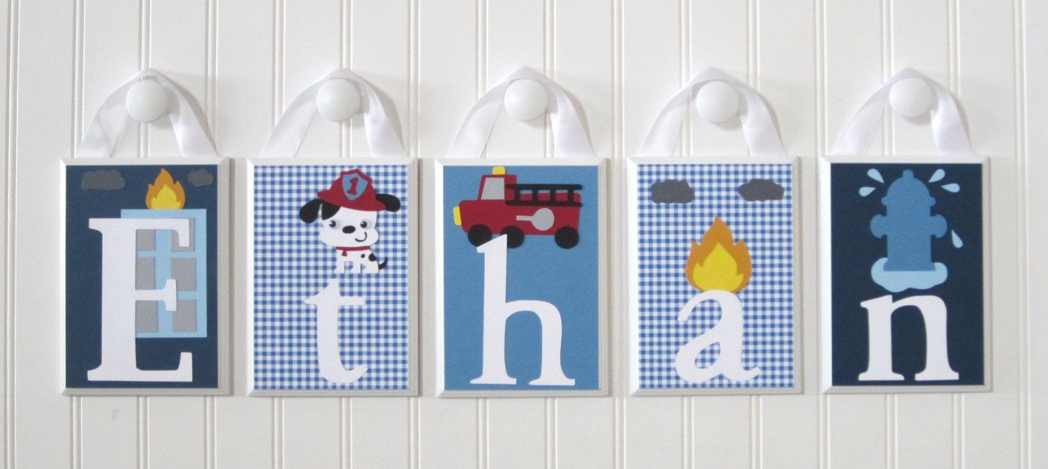 Nursery Name Blocks . Baby Name Blocks . Hanging Wood Name Blocks .