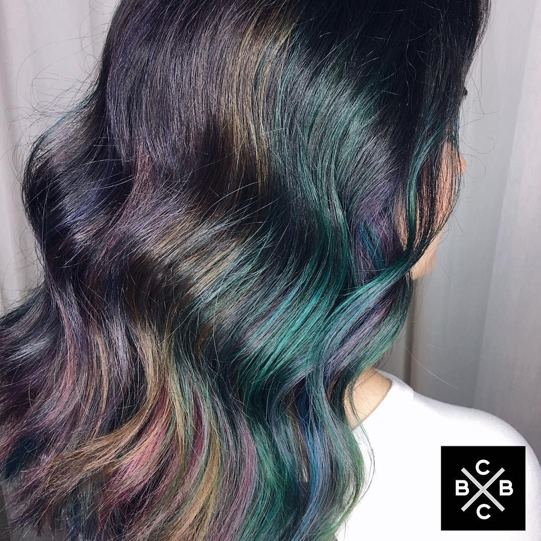 Who Else Is In Love With This Oil Spill Hair Color Lordyassss