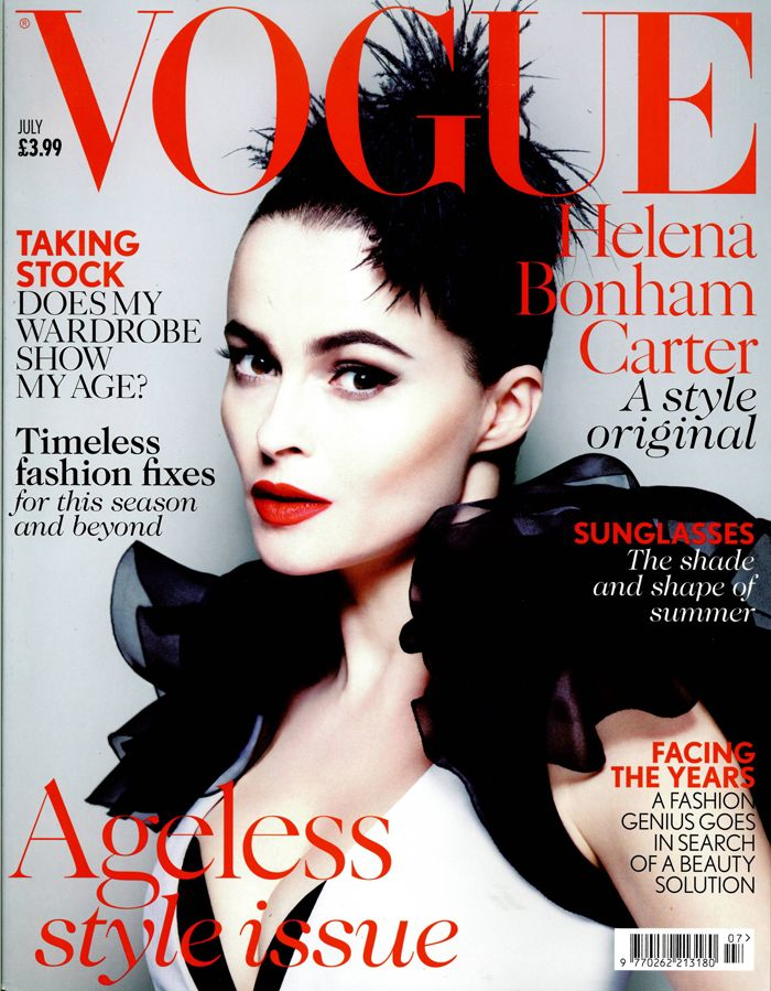 Helena Bonham Carter is flawless in our Hilary dress on the July cover of British Vogue