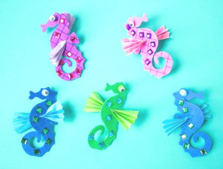Meerestiere basteln mit Kindern – Faszinierende Unterwasserwelt aus allerlei Materialien #sommerlichebastelarbeiten