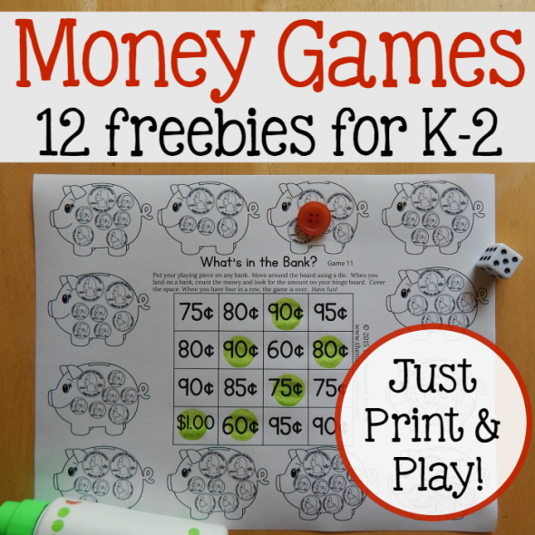 FREE Printable Coin Counting Games | Math Resources for ...