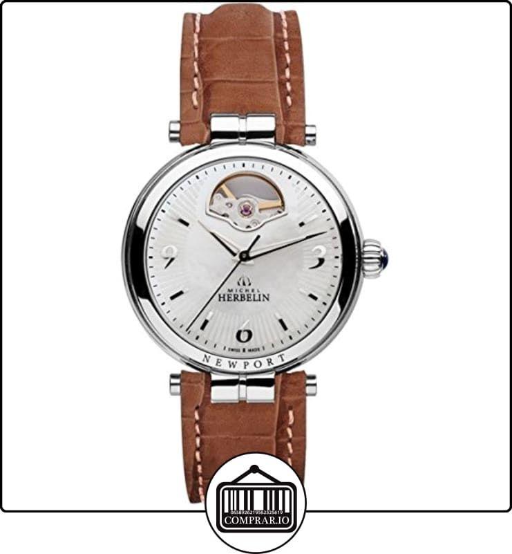 Reloj mujer-Michel Herbelin-Newport-Automático Piel de-1655/co19  ✿ Relojes para mujer - (Lujo) ✿