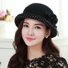 Women Winter Wide Brim Warm Wool Blend Felt Hat Bowler Trilby Fedora Cap Black http://ift.tt/1iFcTMU