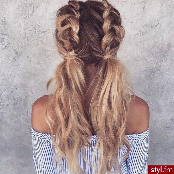 Upięcie Kręcone Na Co Dzień Długie Fryzury Hair Włosy