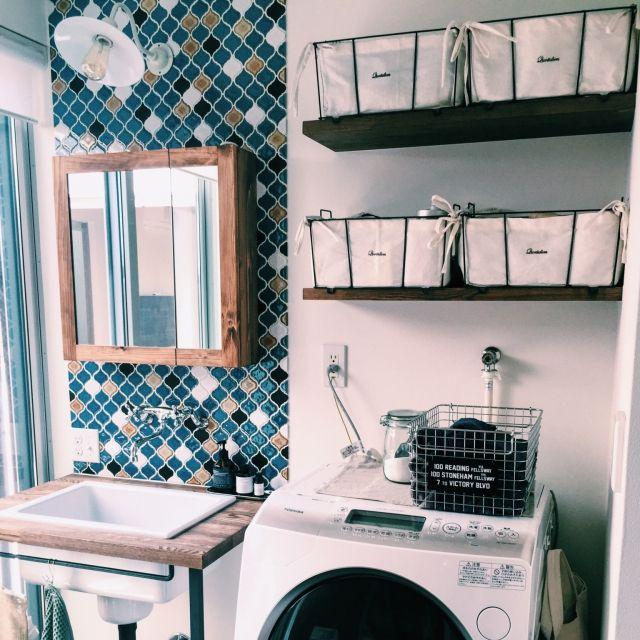 バス トイレ ミラーキャビネット 洗濯機 無印良品 実験用シンク など