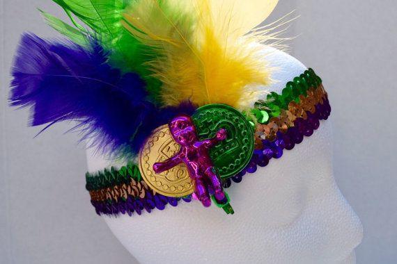 Doubloon Headband New Orleanes Mardi Gras Headband Mardi Gras Infant Headband Carnival Headband Louisiana