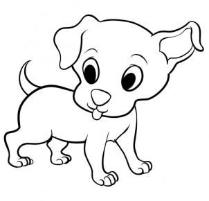Drawing Of A Cartoon Dog Cartoon Dog Puppy Dog Pictures Cute Puppies