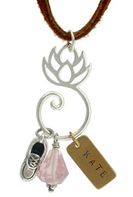 Silver Plated Lotus Charm Holder, tennis shoe charm,  and bronze jewelry  stamping tags are all available at  Nina Designs®. Buy now!