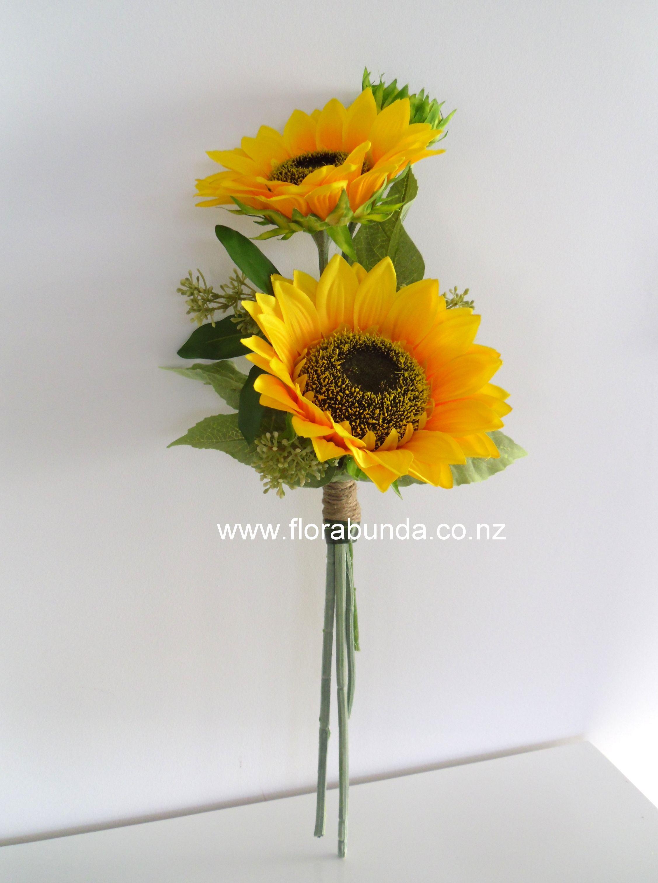Sunflower Simplicity In Silk Flowers Bright Colour Silk Flowers