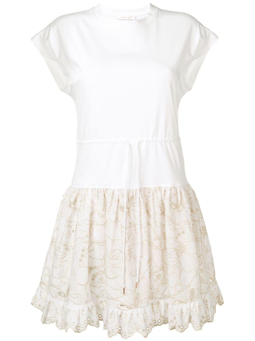 See By Chloe See By Chloe Embroidered T Shirt Dress White Seebychloe Cloth Lace Detailed Dress See By Chloe T Shirt Dress [ 1333 x 1000 Pixel ]