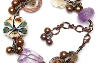 Connect coppery components.  Find more projects on BeadStyleMag.com