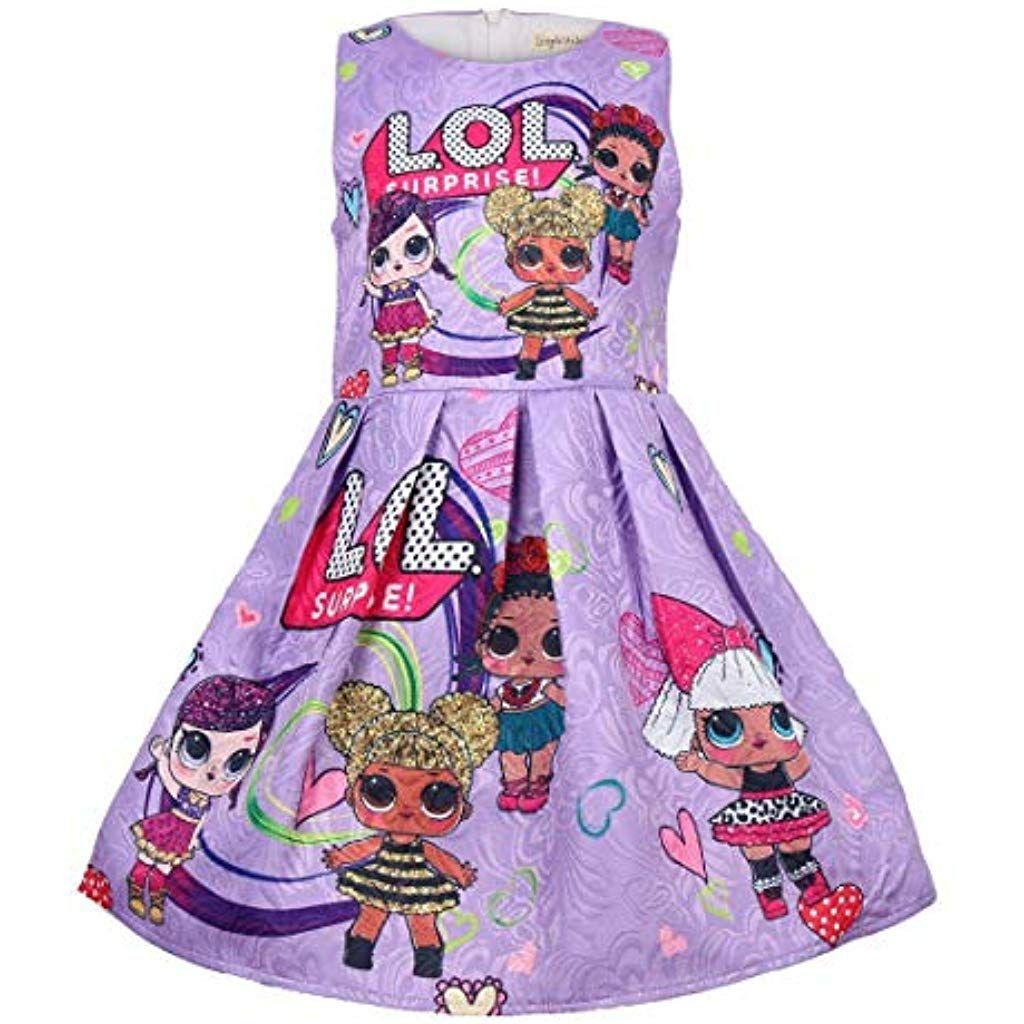disponibilità nel Regno Unito b410a d6122 QYS Vestito da Ragazza LOL Gonna Tutu Toddler Abbigliamento ...