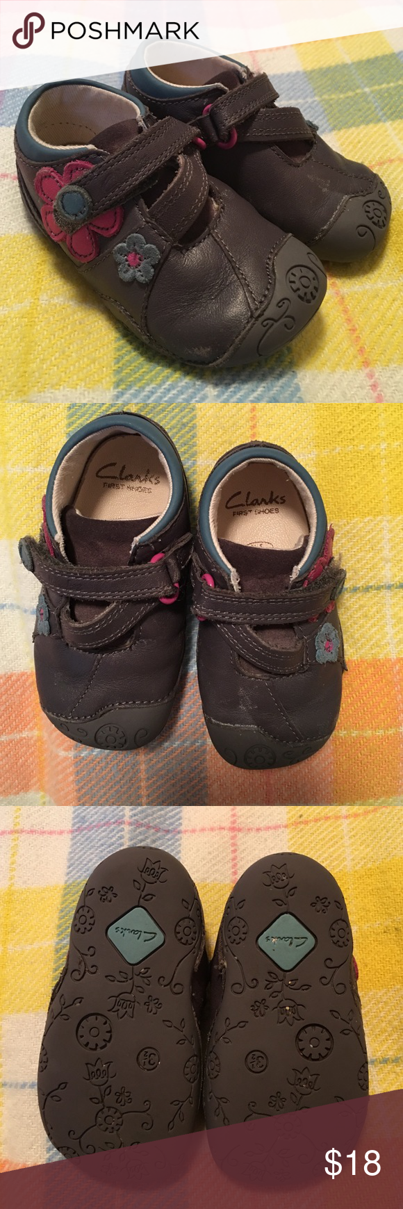 flowers These Clarks baby shoes
