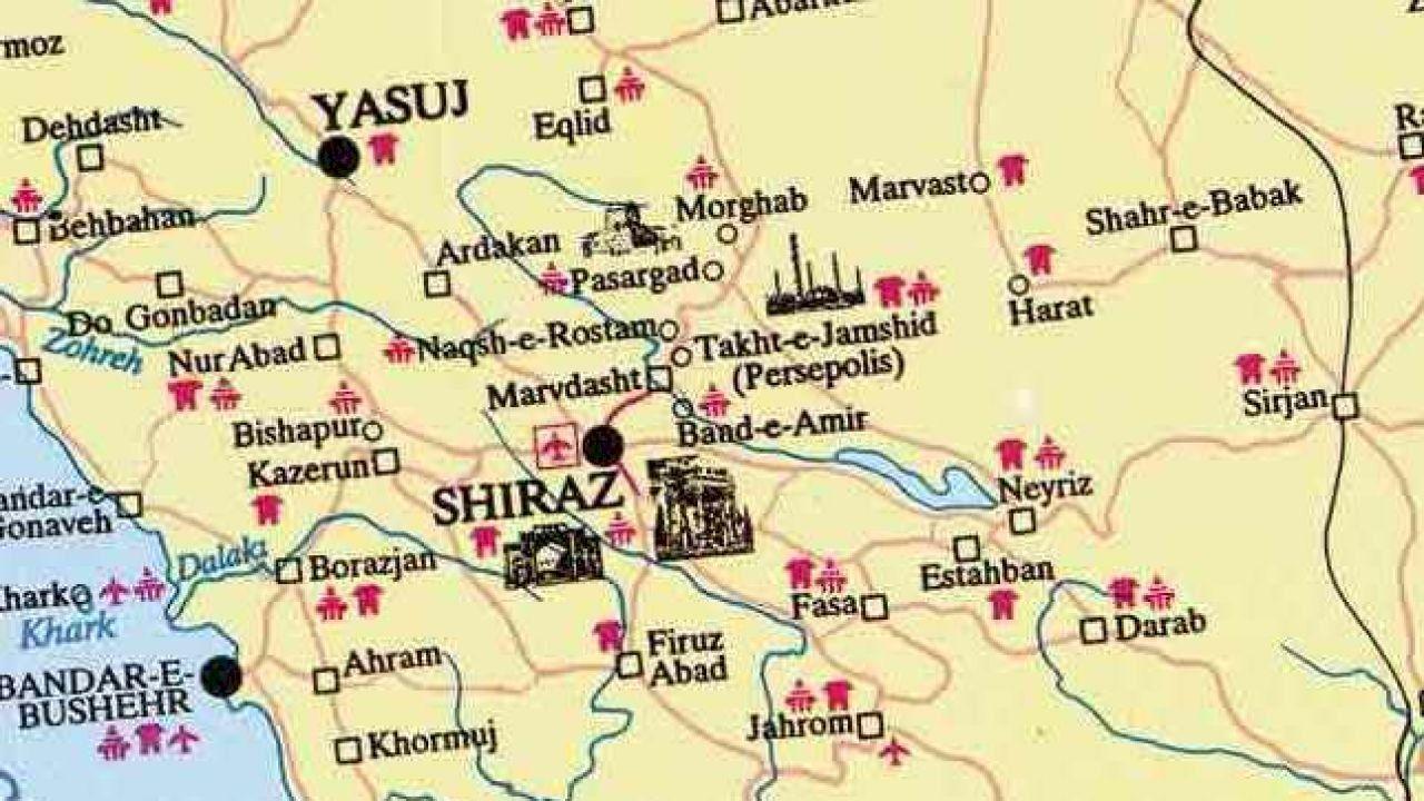أين تقع شيراز Map Map Screenshot Shiraz
