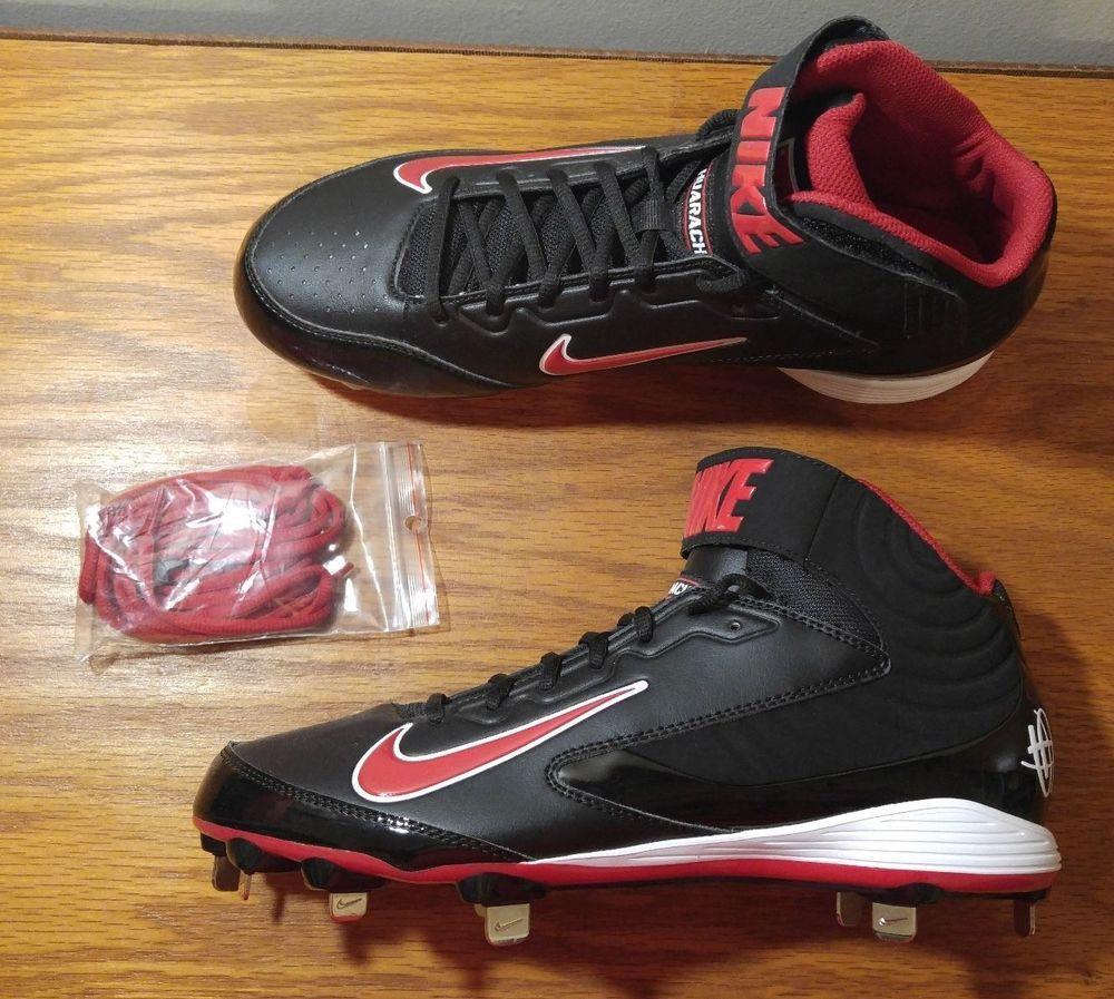 NEW Nike Huarache Strike Mid Metal BASEBALL Cleats Spikes Men's 10 Shoes  615965 #Nike
