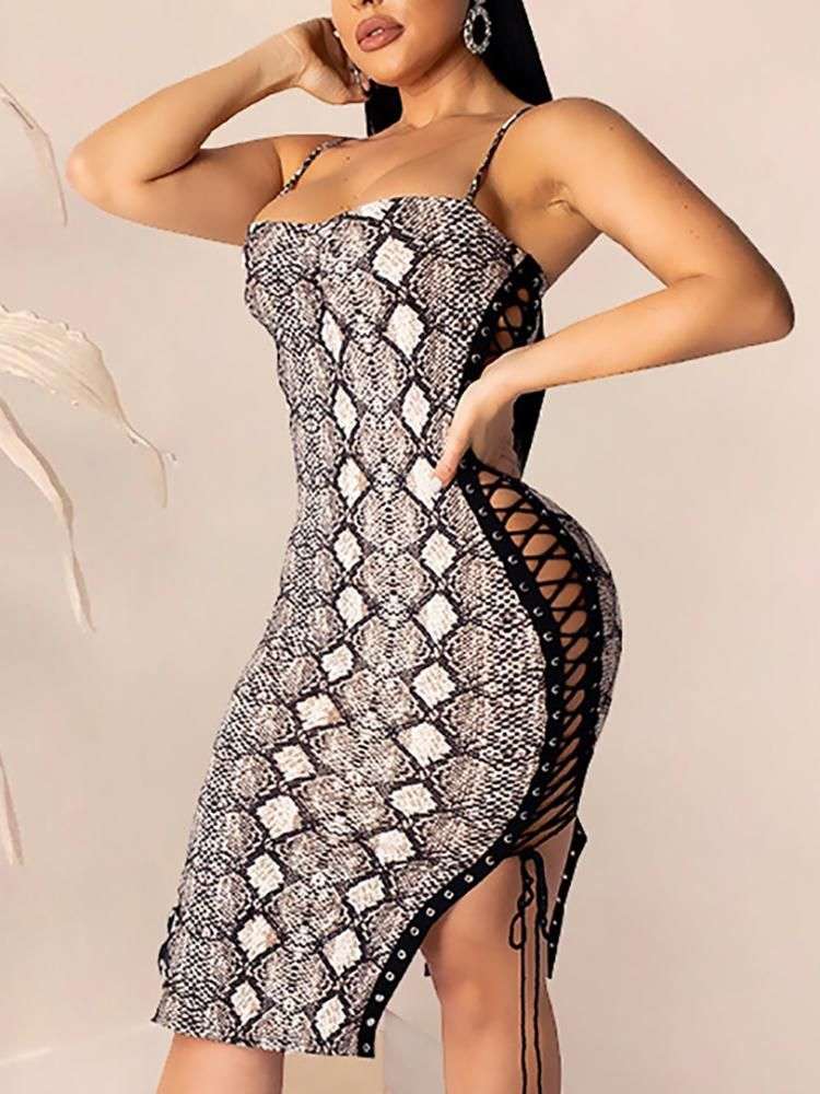 Image result for fashion trends 2019 women snakeskin bodycon dress