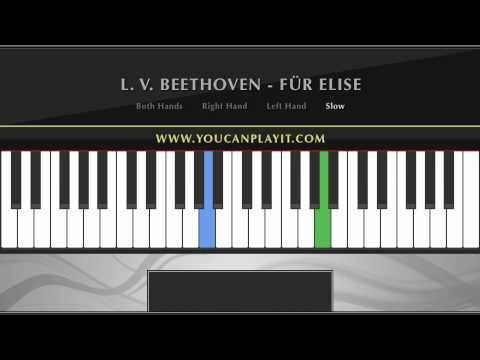 Beethoven Fur Elise Easy Piano Tutorial With Images Piano