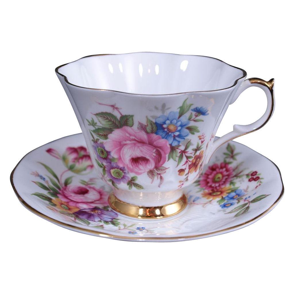 Queen Anne Bone China England Tea Cup & Saucer #211