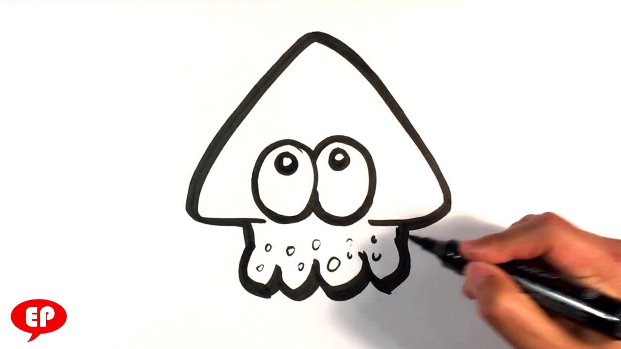 How To Draw Splatoon Squid Easy Pictures To Draw En 2019