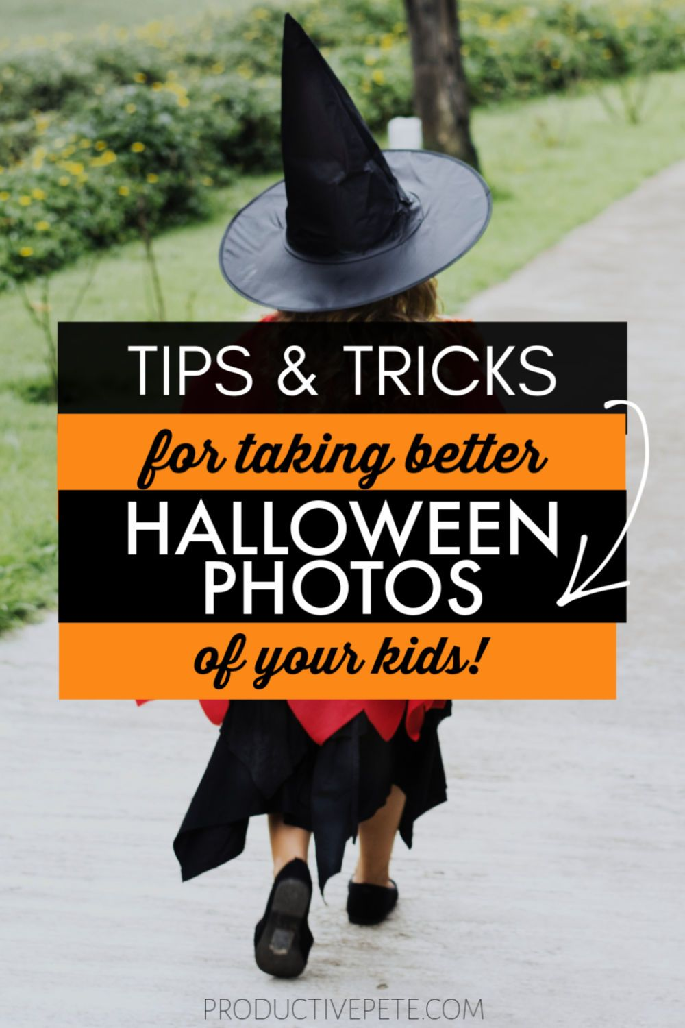 Try these easy photography tips and tricks to capture priceless Halloween memories. Ideas and hacks to avoid blurry, dark photos on the spookiest night of the year. #halloween #photography #momhacks #photographytips #momswithcameras