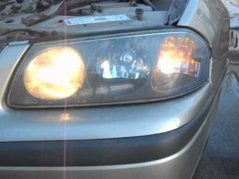 How To Install Replace Headlight And Bulb Chevy Impala 00 05 1aauto You