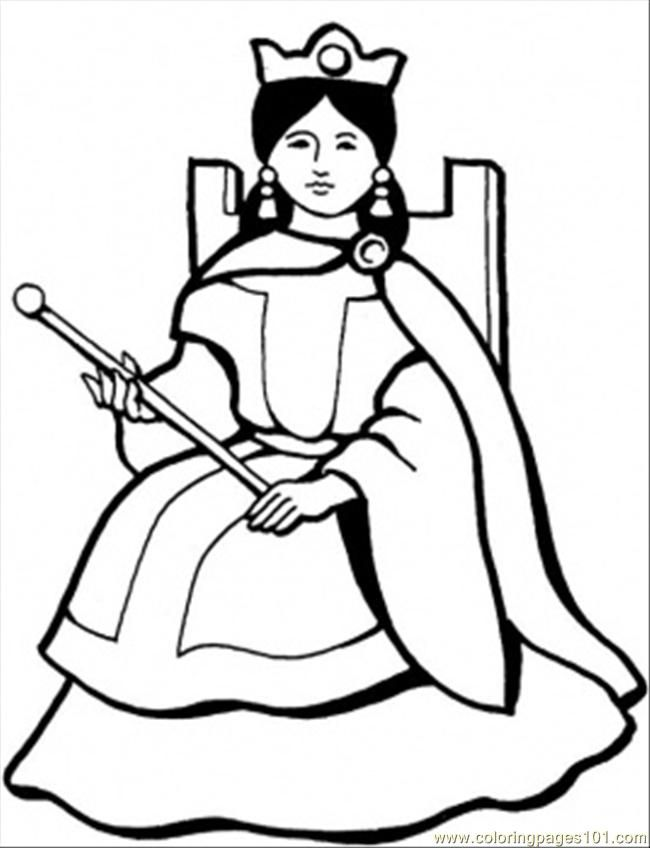Queen Coloring Page Coloring Pages Coloring Books