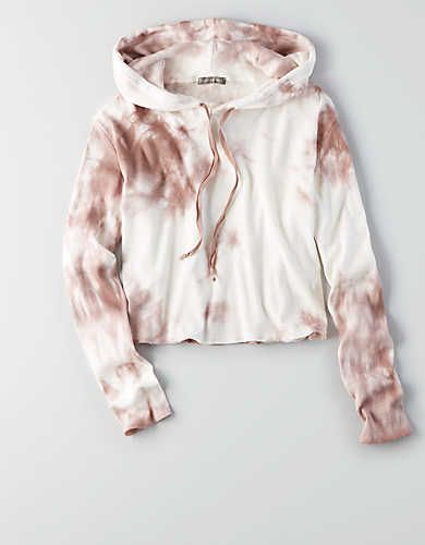 Don't Ask Why Crop Hoodie, Just Rosey | American Eagle