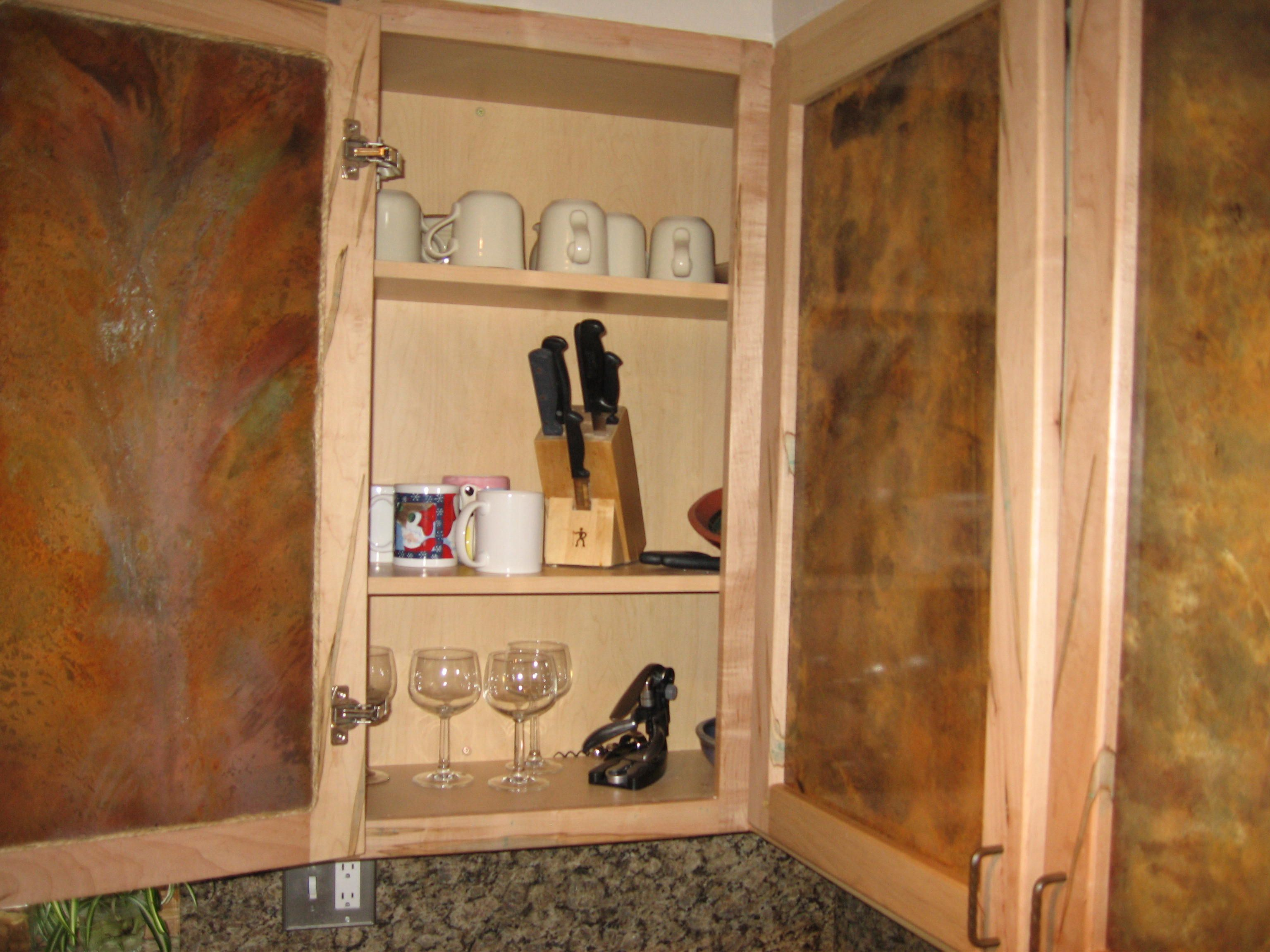 Wormy Maple Kitchen Cabinets With Treated Metal Inserts Maple Kitchen Cabinets Maple Kitchen Cabinet