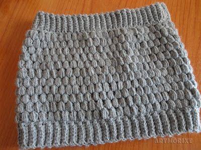 Artmorixe - Cuello a crochet en punto piña o puff | Mi crochet ...